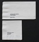 Jeff Koons napkin2010